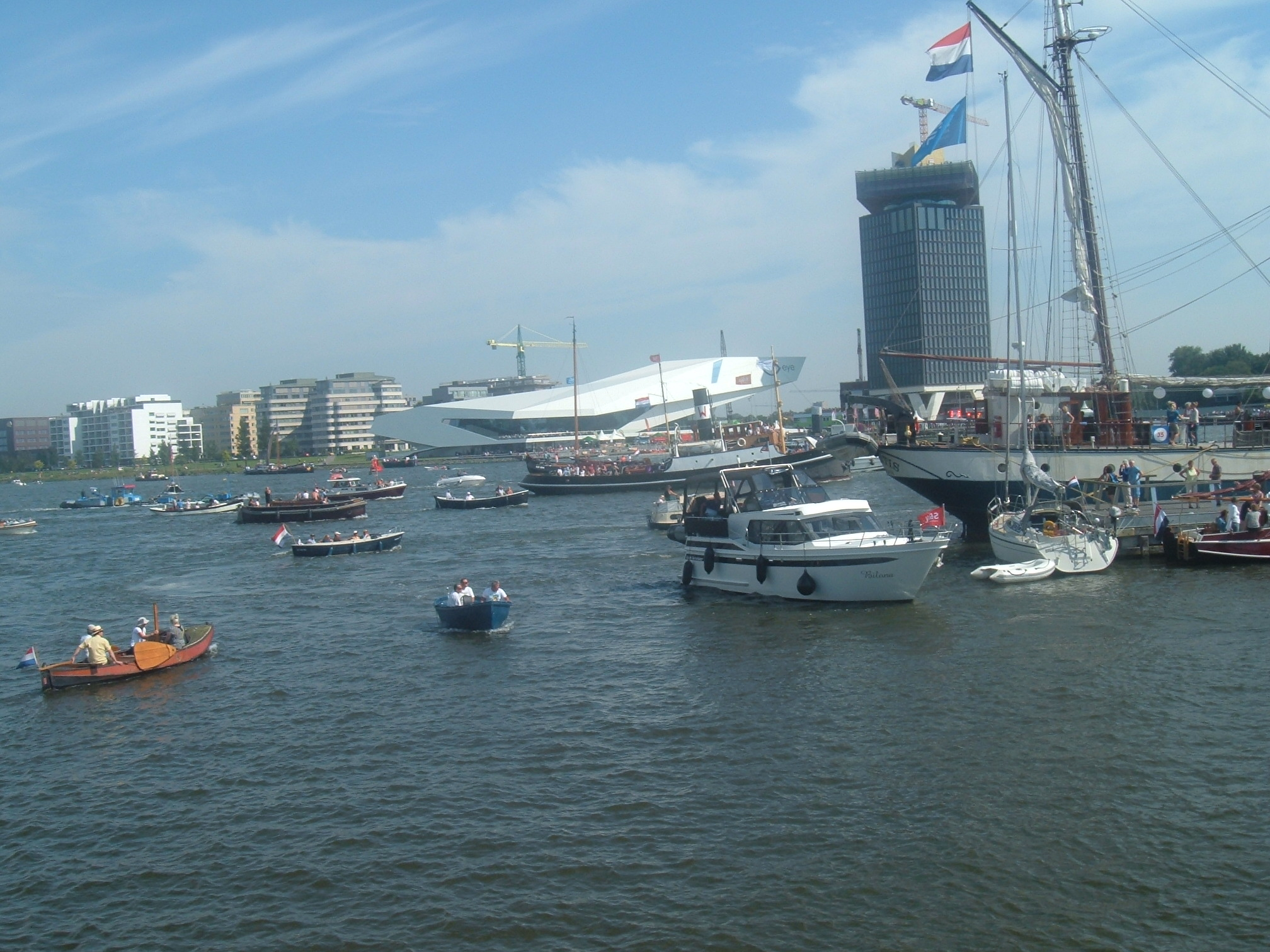 Boats visiting Amsterdam Sail 2015