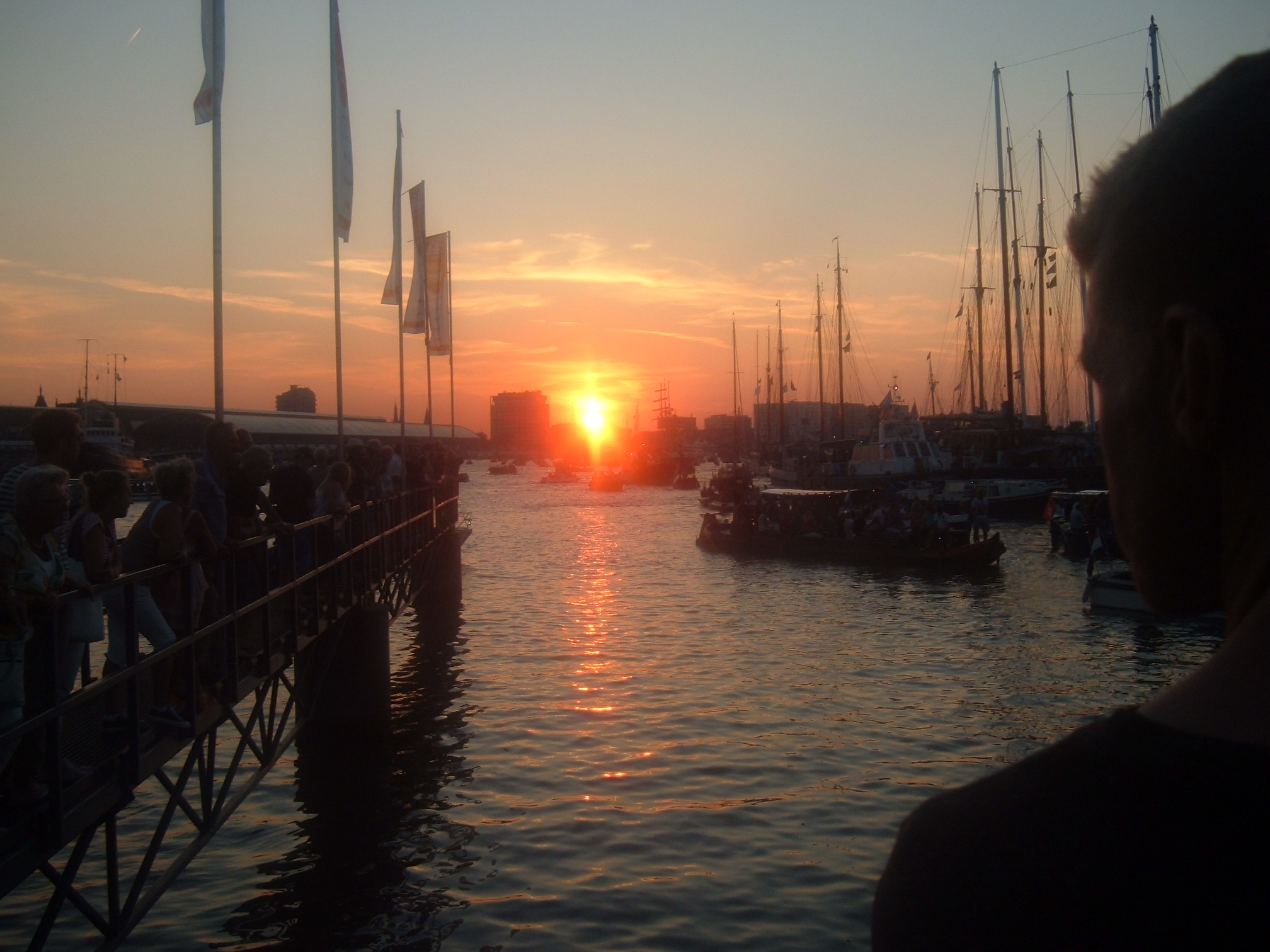 Sunset at Amsterdam Sail 2015