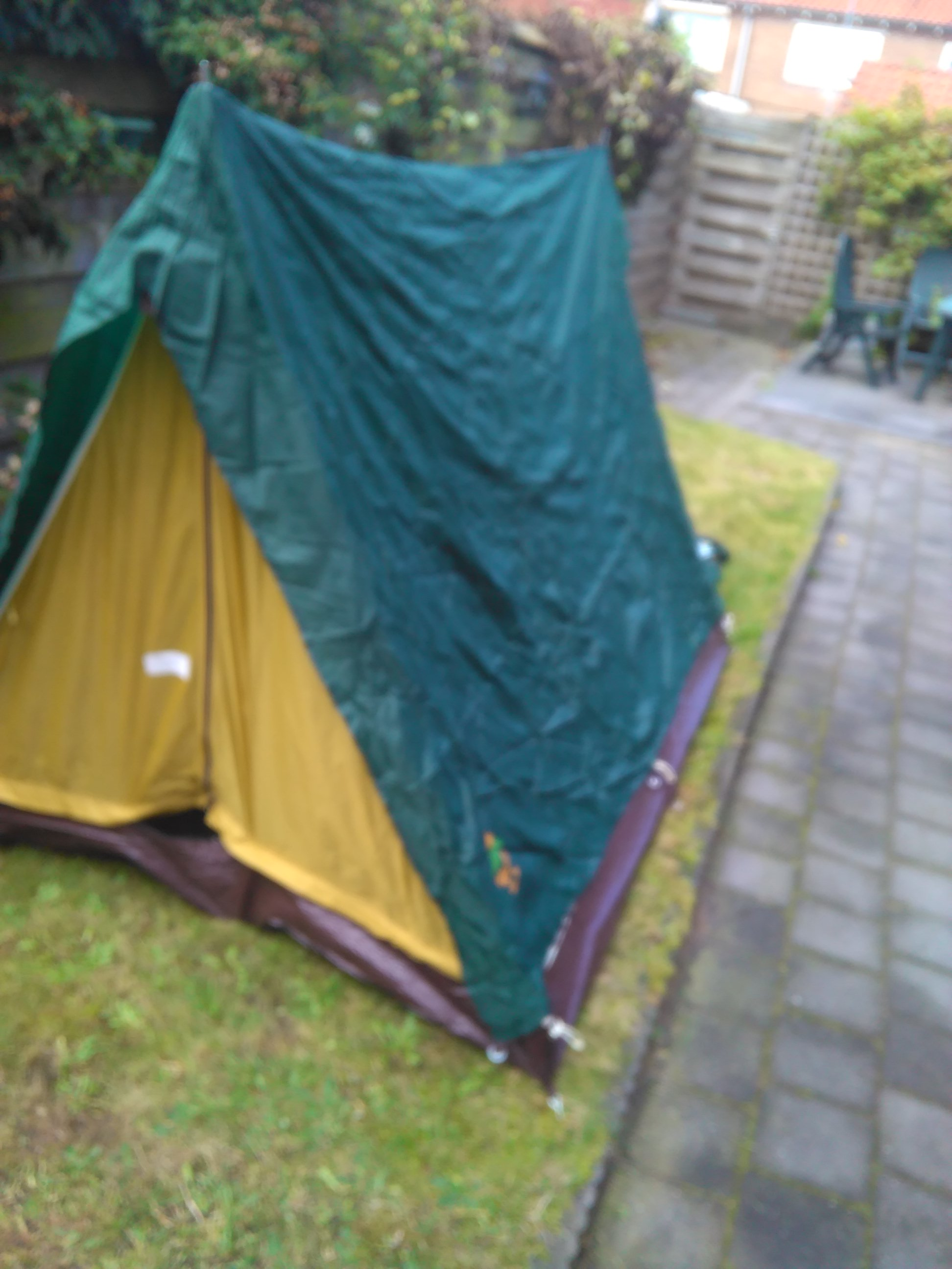 Partially Erected Tent