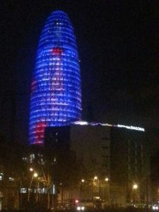 The Agbar Tower at Night