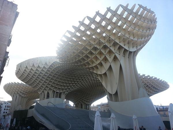 Metrosol-Parasol (Seville, Spain) Viewed from Below