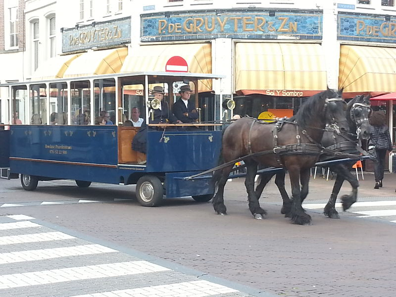 Horse-Drawn Tram in Breda (the Netherlands)