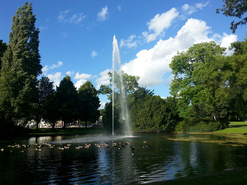 The Fountain in Valkenberg Park (Breda, The Netherlands)