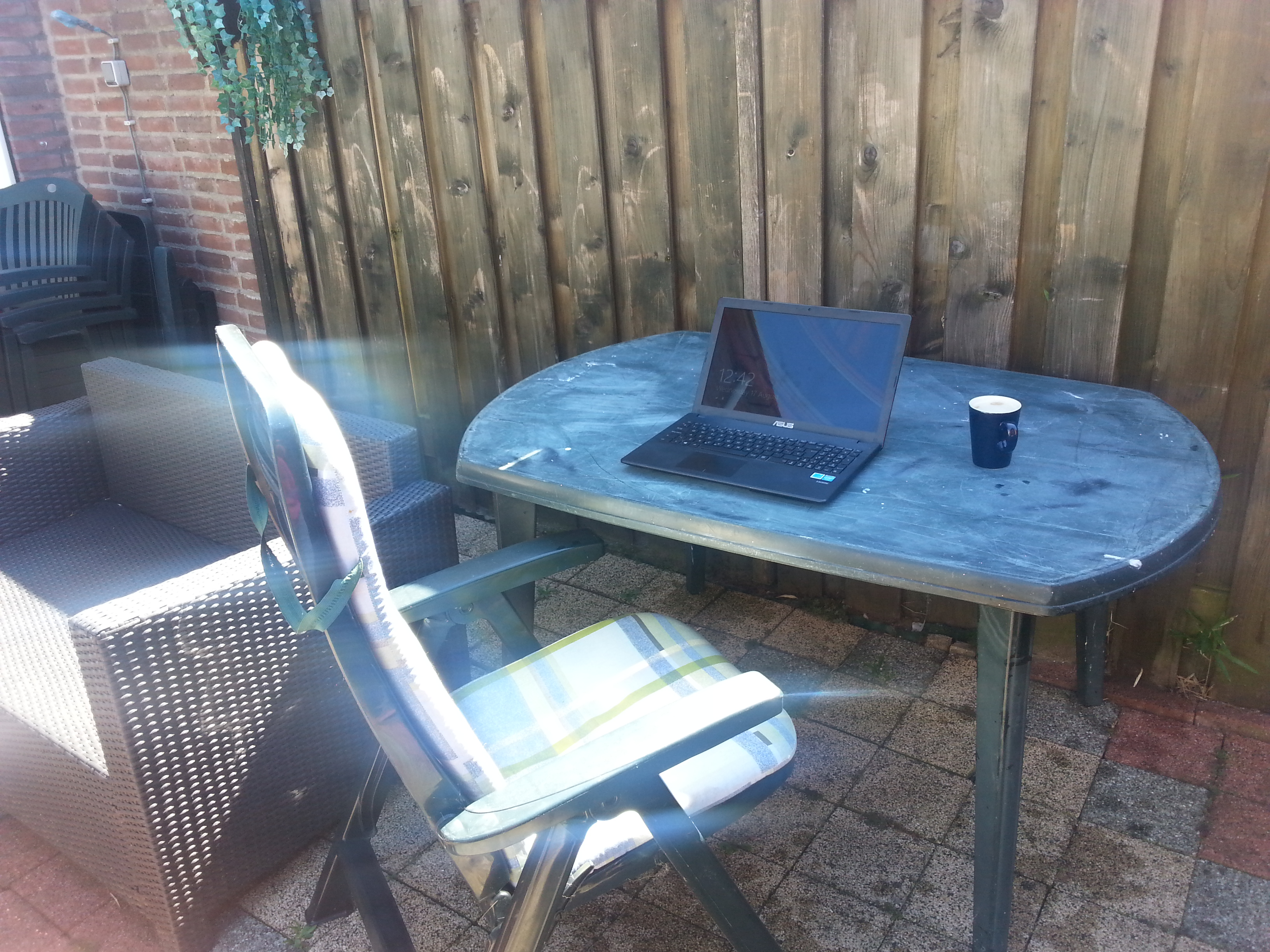 It's always nice to work outside during the Summer