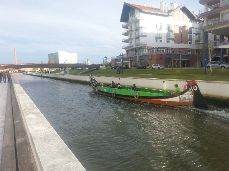 Gondola in Aveiro, Portugal