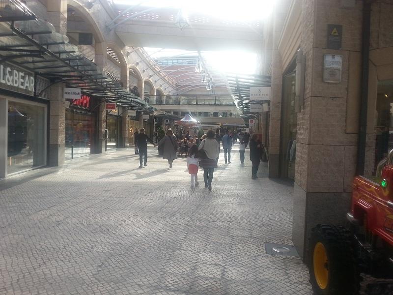Open-Air Shopping Mall in Aveiro, Portugal