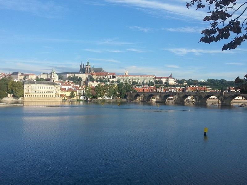 View Across the Vltava River in Prague