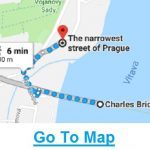 Map: Narrowest Street in Prague