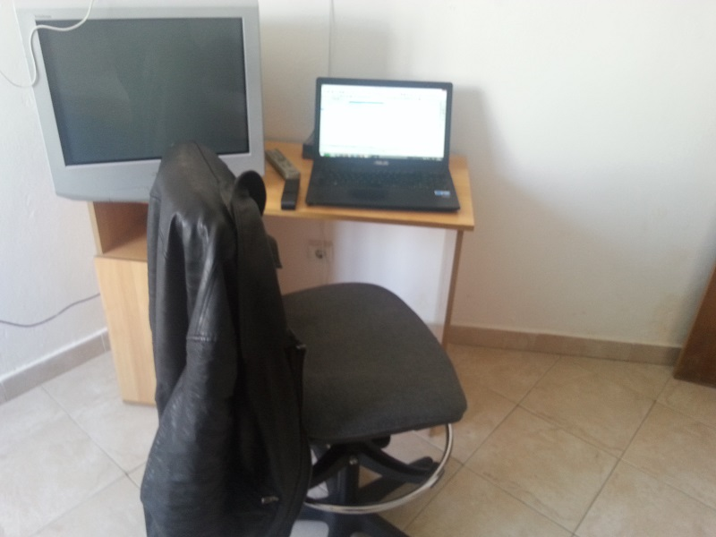 The Desk I worked from in Faro, Portugal (Life as a digital nomad causes you to change desks a lot)