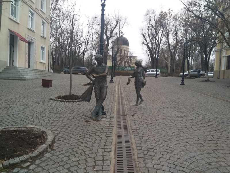 "Statues of ""The Lovers"" in Chisinau, Moldova"