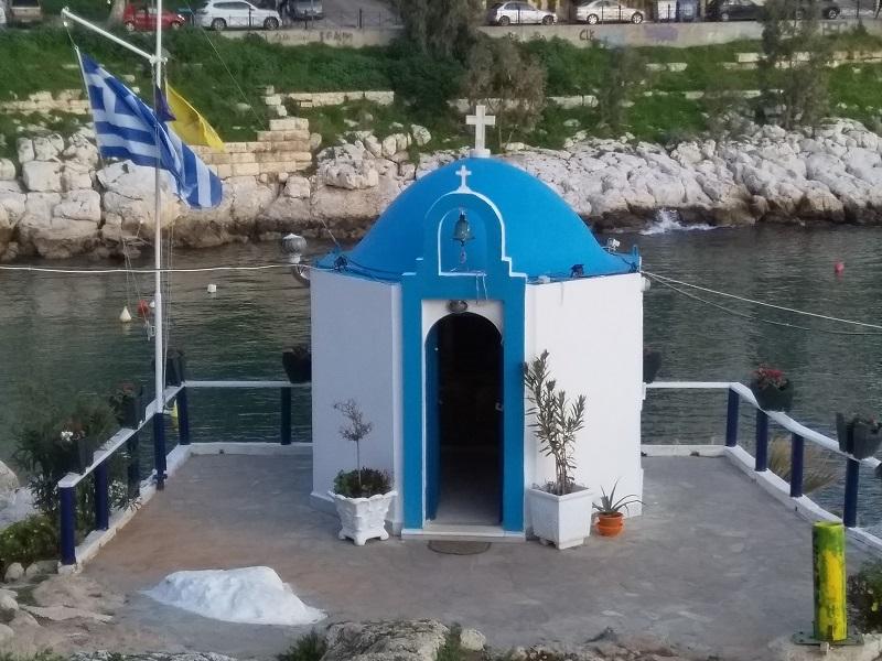 Small Greek Church Near the Sea