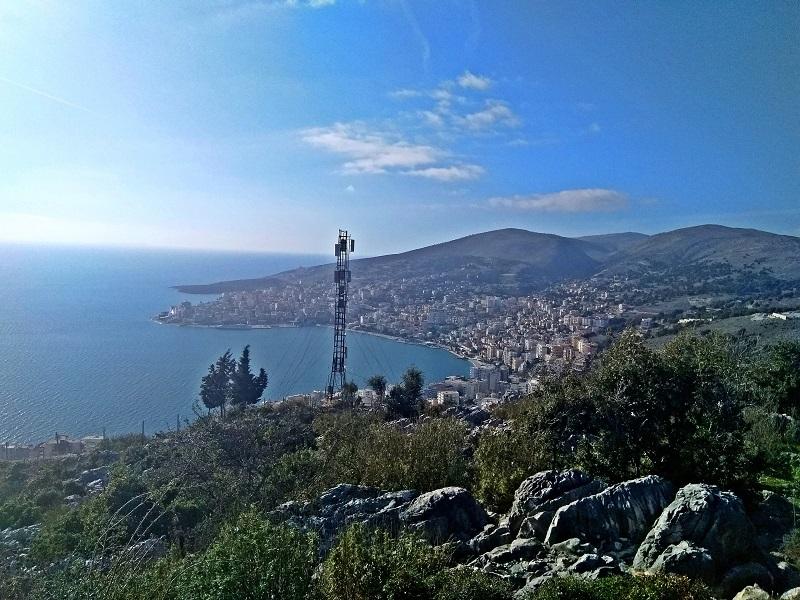 View of Sarnada (Albania) from Lëkurësi Castle