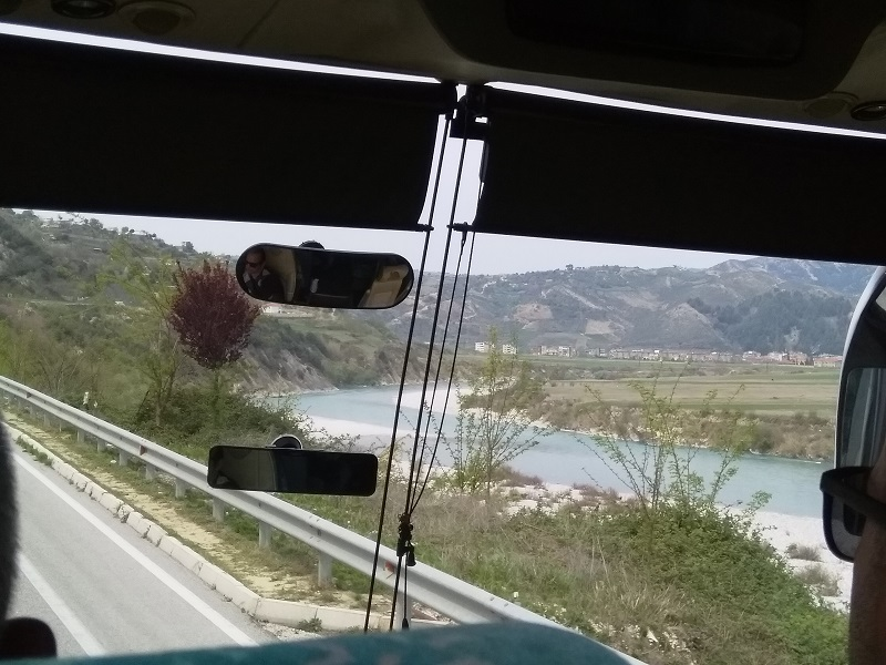 Travelling on the Bus From Saranda to Tirana
