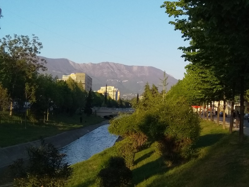A Walk Beside the River Lana in Tirana
