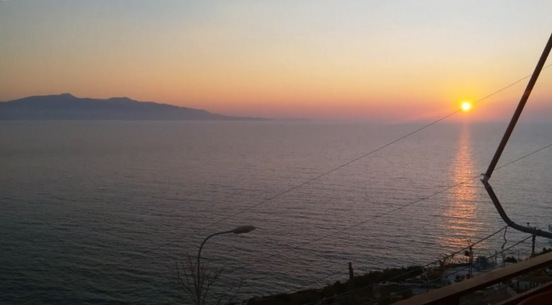 Watching the Sunset Over the Sea in Saranda (For the Last Time)