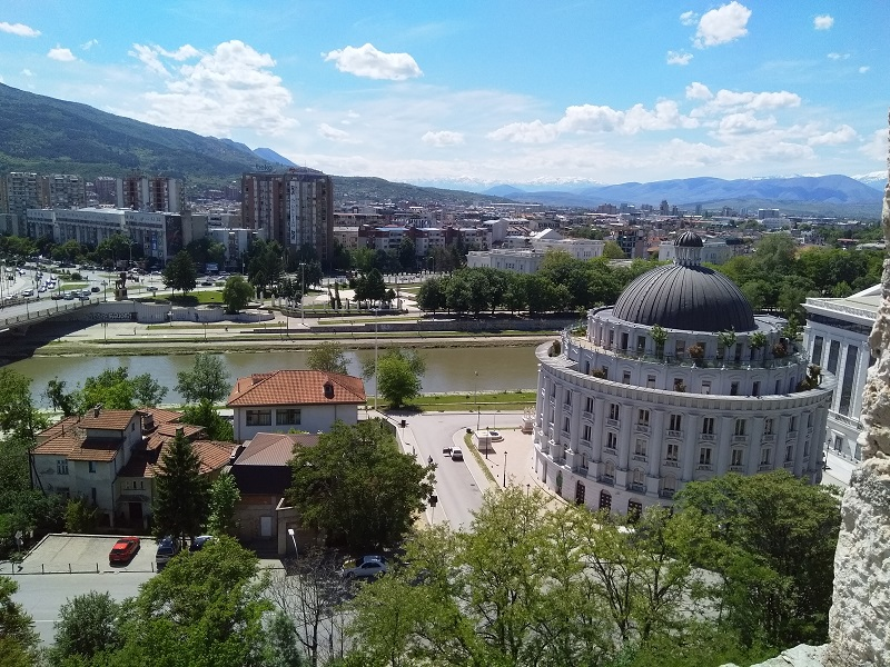 View of Skopje and River Vardar (Taken from Kale Fortress)