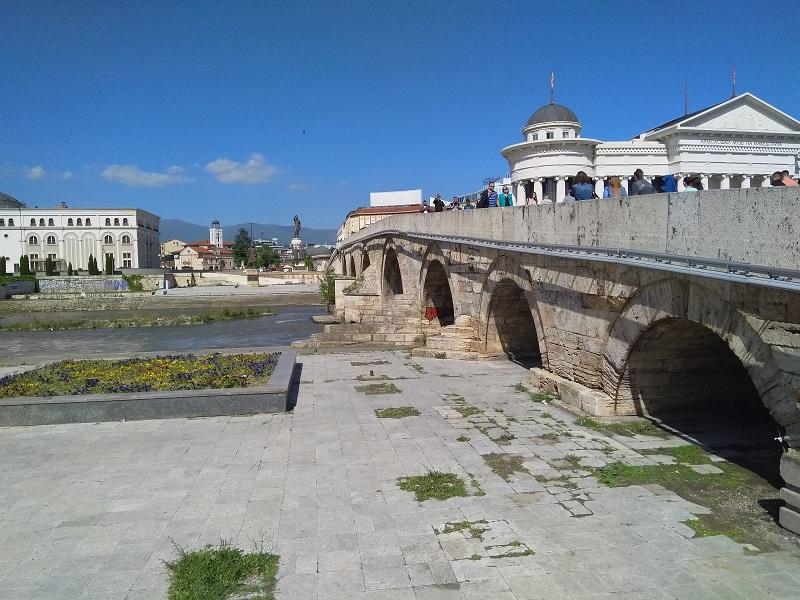 The Stone Bridge (Tourist Attraction in Skopje, Macedonia)