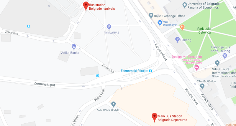 Belgrade Bus Station (Arrivals and Departures Quite a Distance Apart)