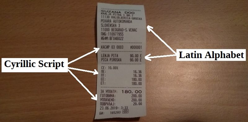 Till Receipts in Serbia Are Sometimes Very Skinny! - Travel