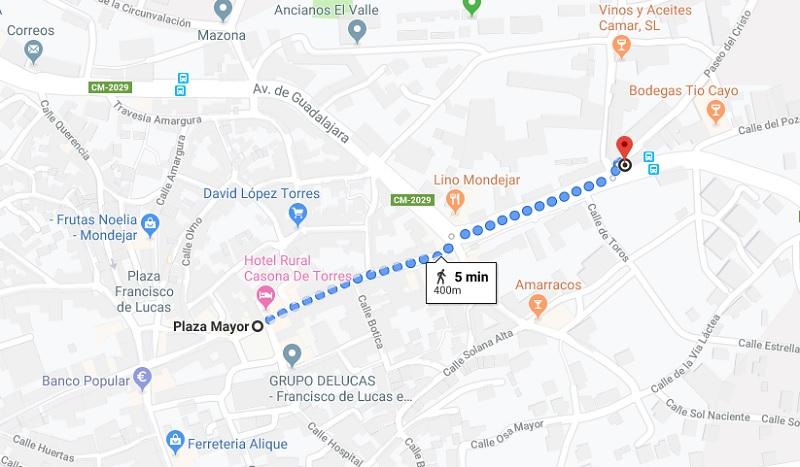 Map to Ermita de San Pedro