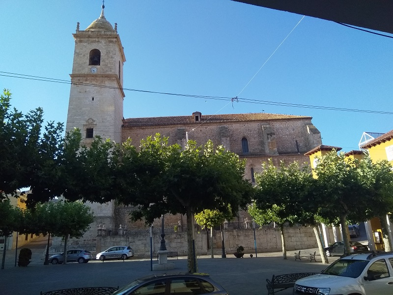 The church as seen from the other side of the main square