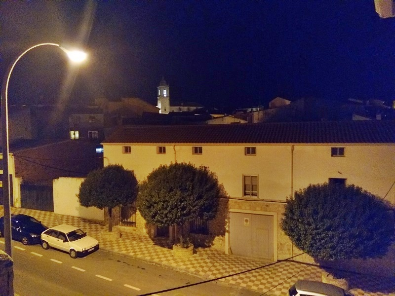 The Church of St Mary Magdalena Seen from a Distance at Night
