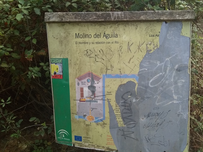 Information Board Next to the Molina de la Aguil