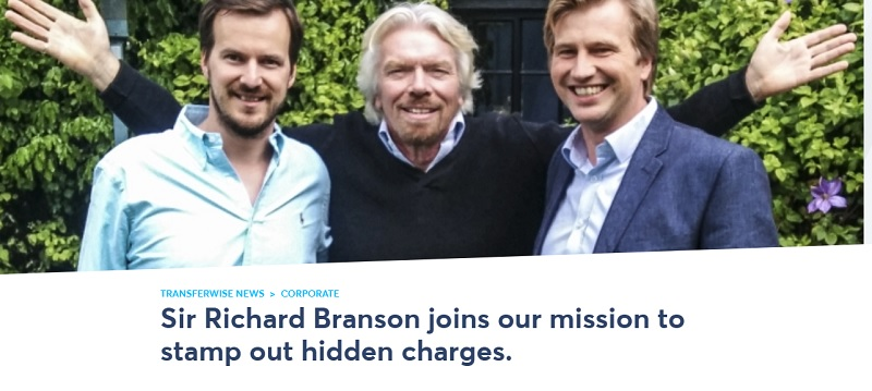 Richard Branson Becomes a Main Investor in TransferWise