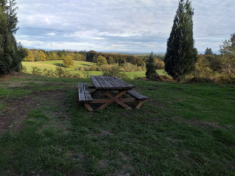 Picnic Bench at Penacorn Chapel (Neuvic)